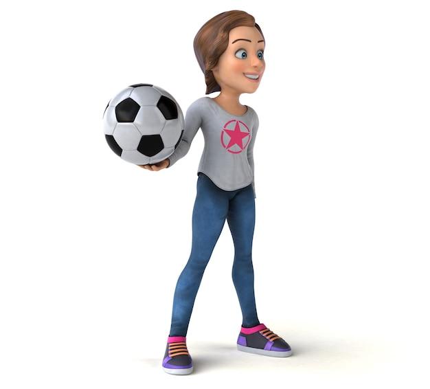 Leuke illustratie van een cartoon tienermeisje
