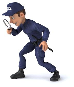 Leuke illustratie van een politieagent