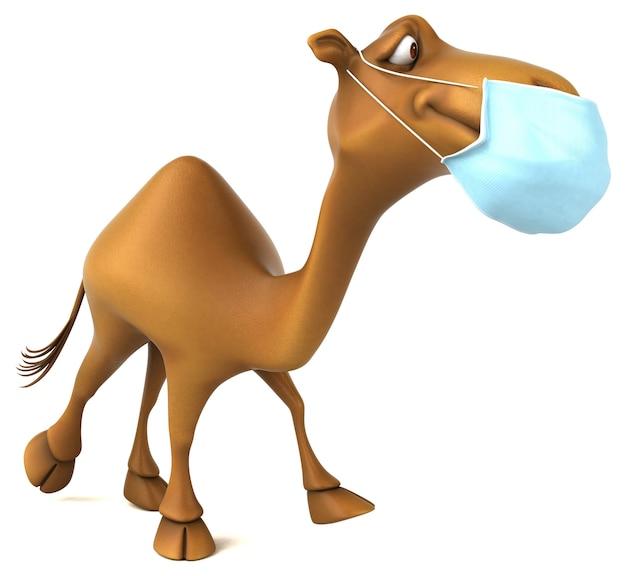 Leuke kameel met een masker