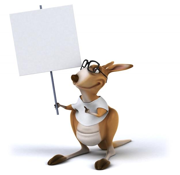 Leuke kangoeroe-animatie