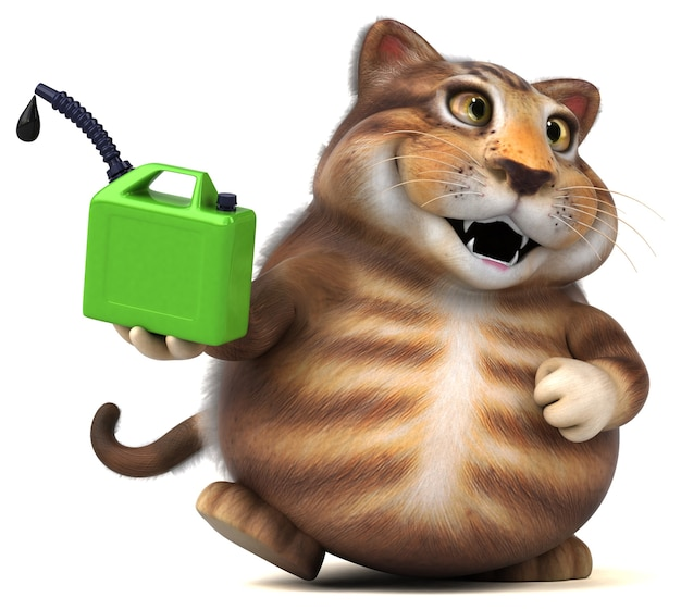 Leuke kat - 3d illustratie