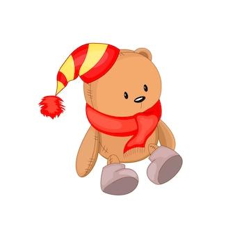 Leuke kerst teddybeer.
