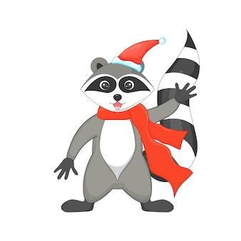 Leuke kerst wasbeer.