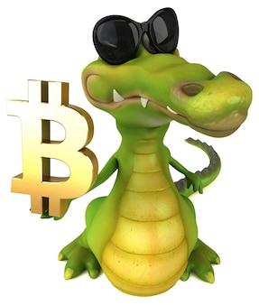 Leuke krokodil - 3d illustratie