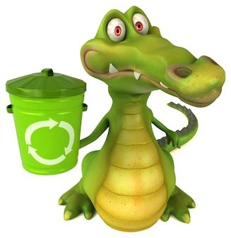 Leuke krokodil illustratie