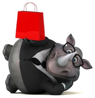 Leuke neushoorn 3d illustratie