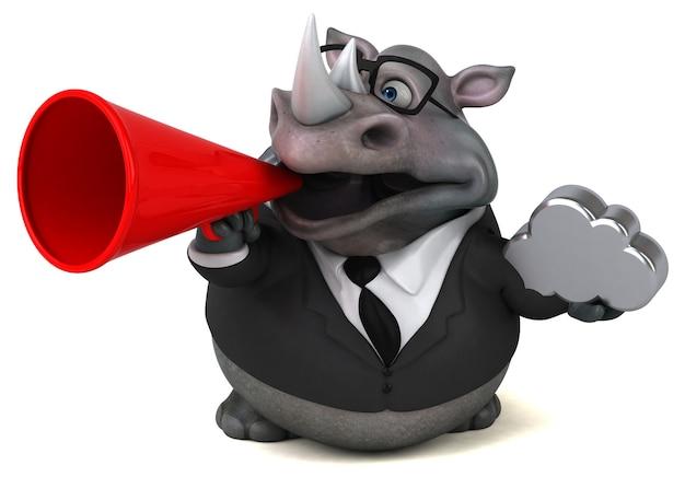 Leuke neushoorn - 3d illustratie