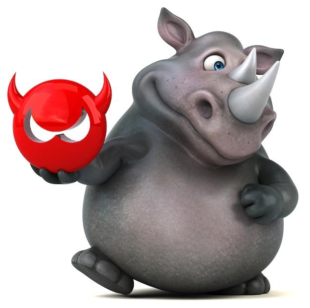 Leuke neushoorn illustratie
