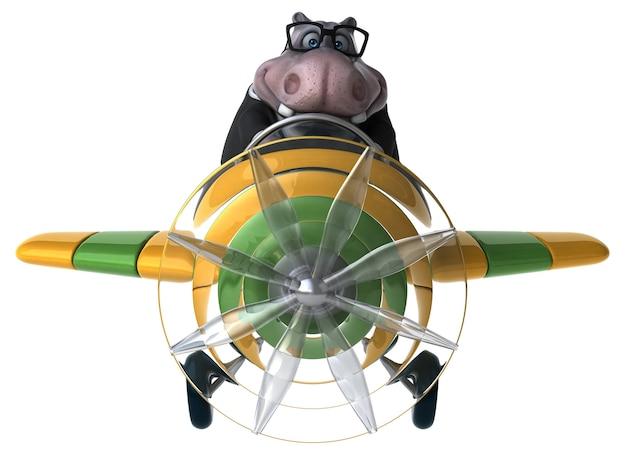 Leuke nijlpaard - 3d illustratie