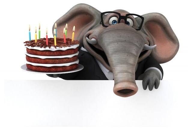 Leuke olifant 3d illustratie