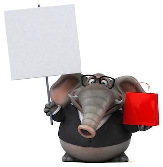 Leuke olifant - 3d illustratie Premium Foto