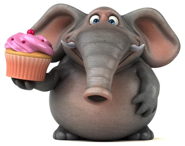 Leuke olifant - 3d illustratie
