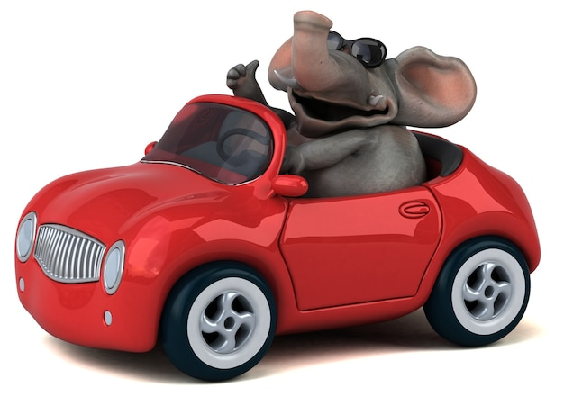 Leuke olifant - 3d-personage