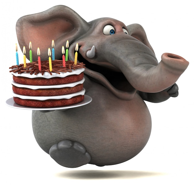 Leuke olifant animatie