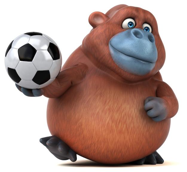 Leuke orang-oetan - 3d illustratie geïsoleerd