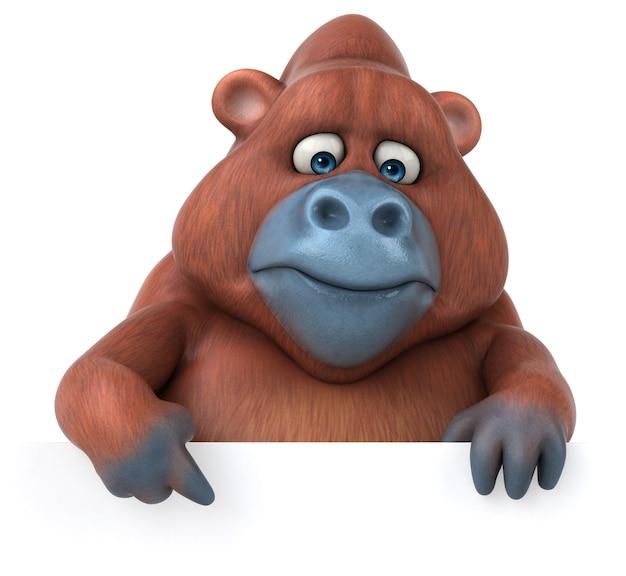 Leuke orang-oetan - 3d illustratie