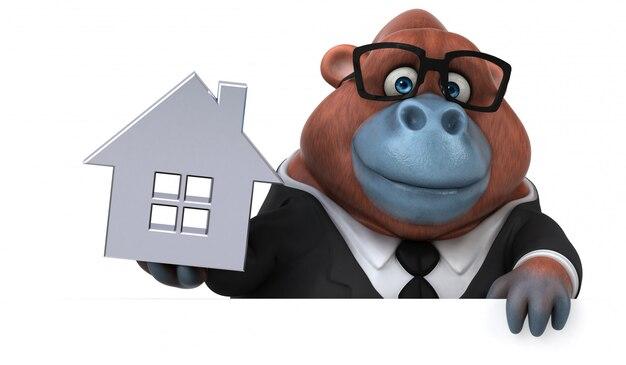 Leuke orang-outan 3d illustratie