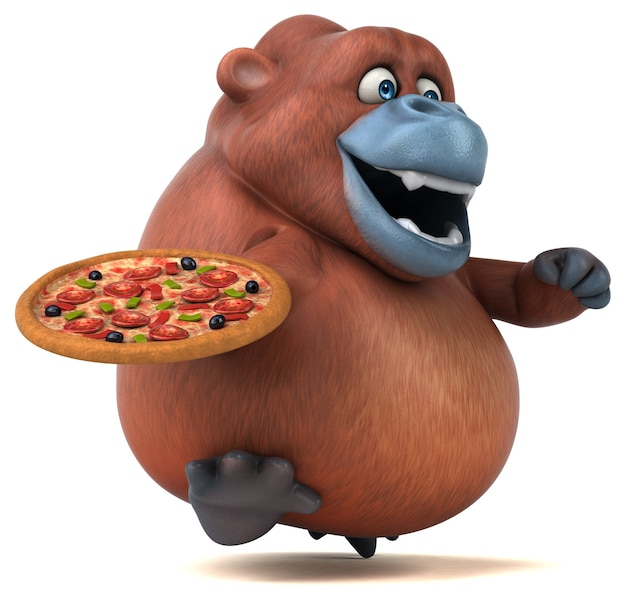 Leuke orangoutan - 3d illustratie