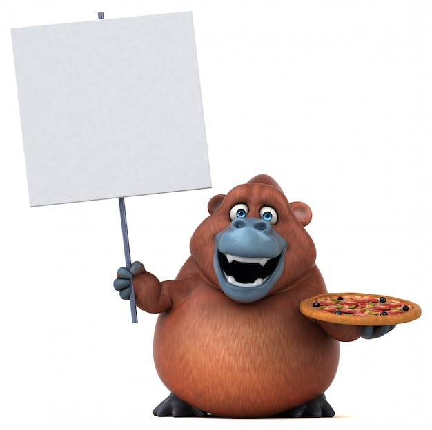 Leuke orangoutan-animatie
