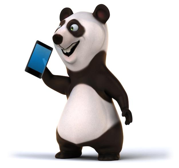 Leuke panda 3d illustratie