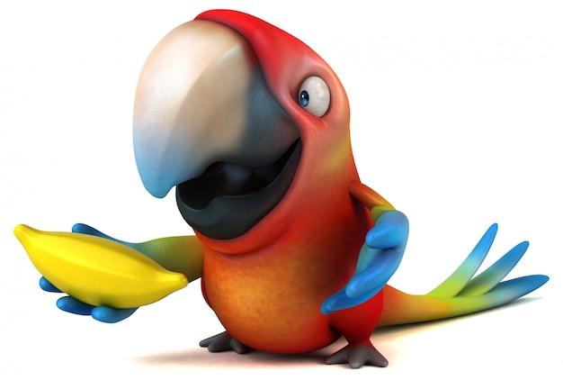 Leuke papegaai-animatie