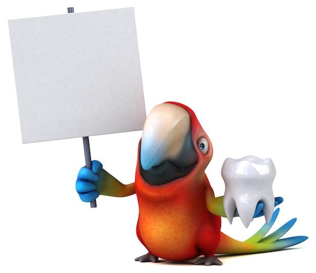 Leuke papegaai illustratie