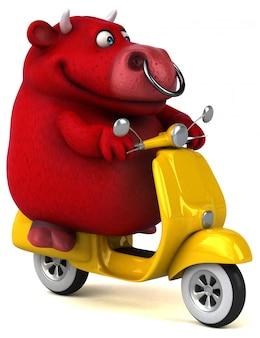 Leuke red bull - 3d illustratie