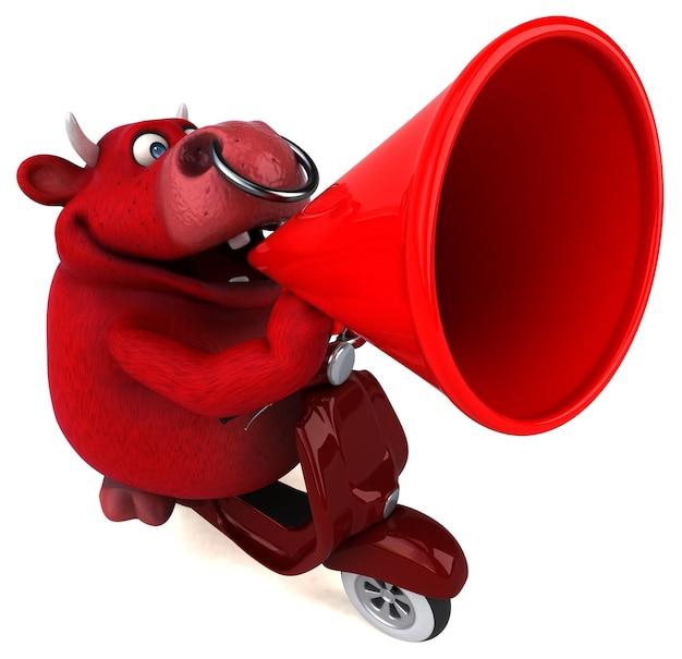 Leuke rode stier - 3d illustratie