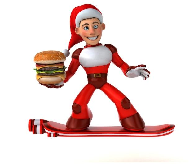 Leuke super kerstman 3d-afbeelding