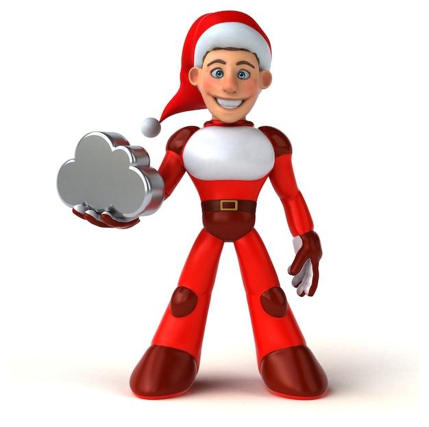 Leuke super kerstman - 3d illustratie