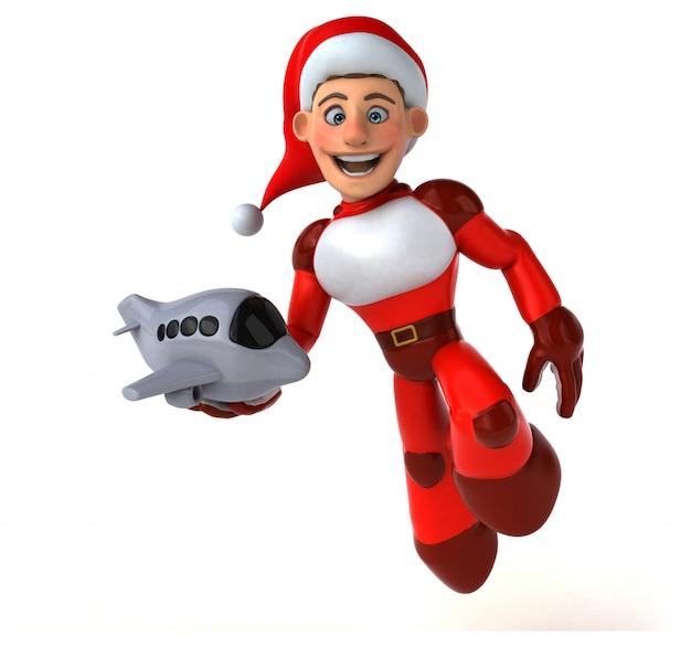 Leuke super kerstman - 3d karakter