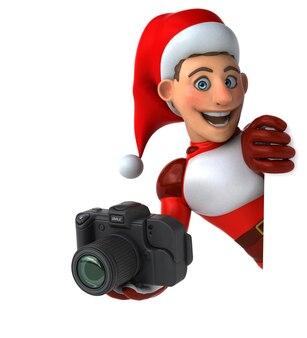 Leuke super santa claus 3d-afbeelding