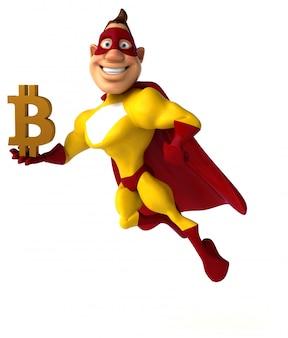 Leuke superheld - 3d illustratie