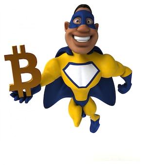 Leuke superheld - 3d-karakter
