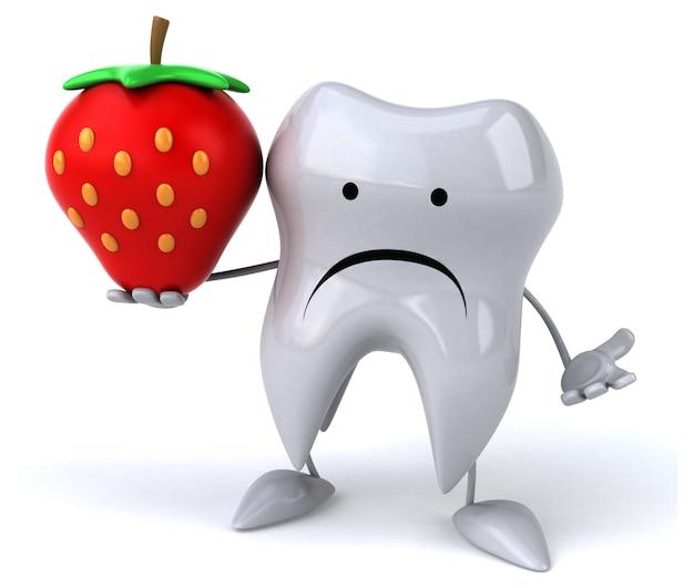 Leuke tand - 3d karakter