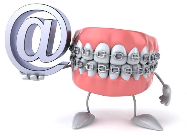 Leuke tanden - 3d karakter