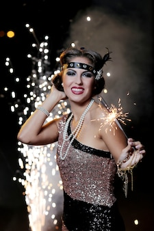 Leuke, vrolijke carnavalsvrouw