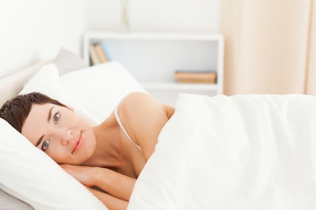 Leuke vrouw wakker