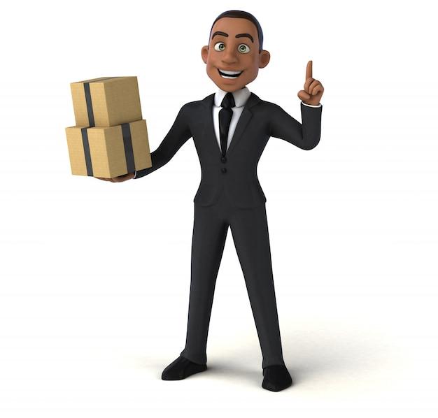 Leuke zakenman animatie