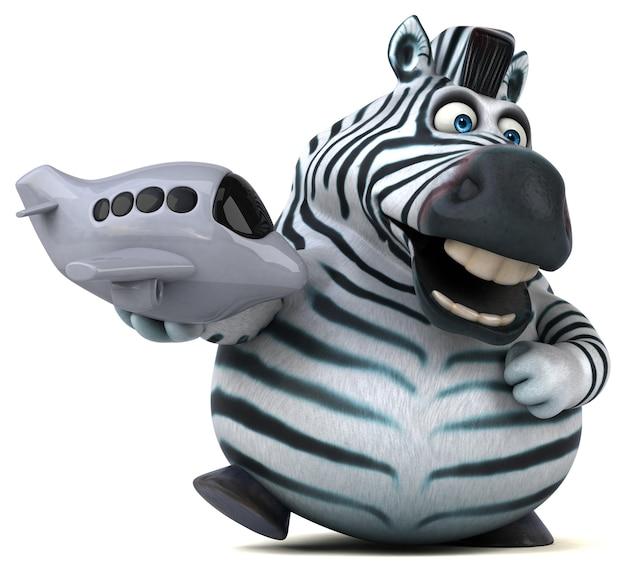 Leuke zebra 3d illustratie