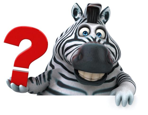 Leuke zebra - 3d illustratie Premium Foto