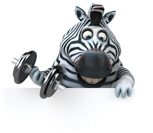 Leuke zebra - 3d illustratie