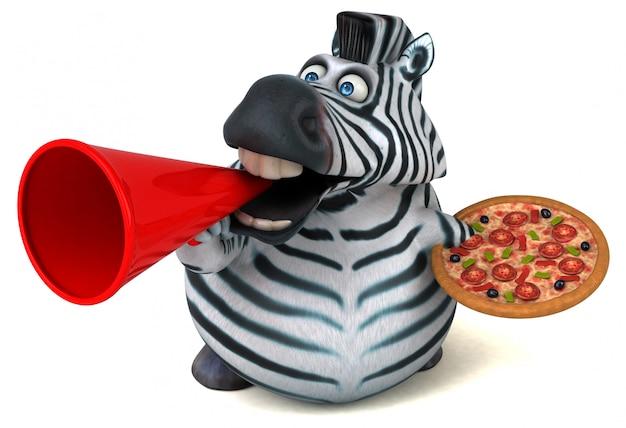 Leuke zebra-animatie