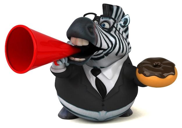 Leuke zebra illustratie