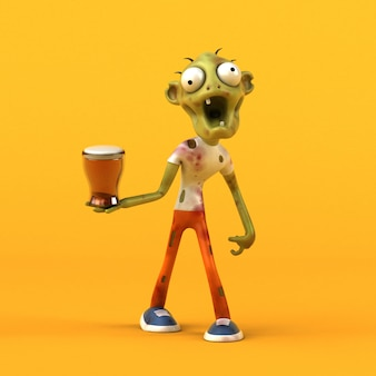 Leuke zombie - 3d illustratie