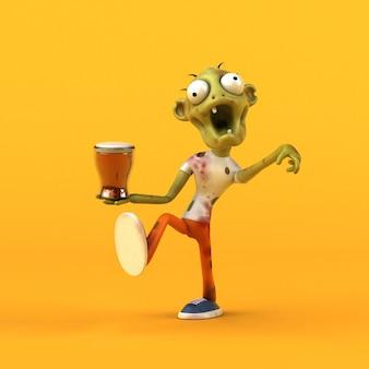 Leuke zombie 3d illustratie