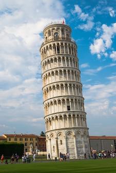 Leunende toren van pisa italië