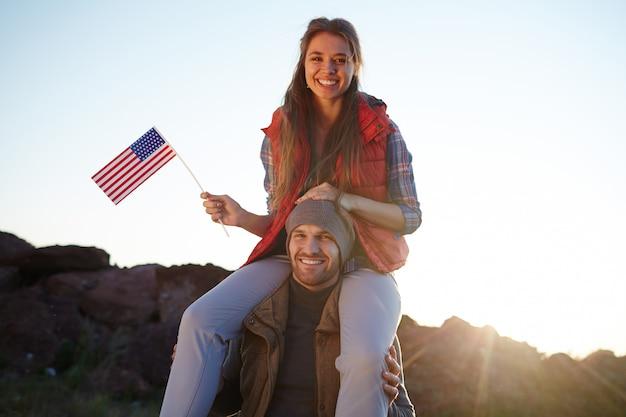 Levend actief leven in amerika