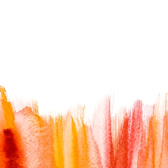 Levendige aquarel penseelstreek op witte achtergrond