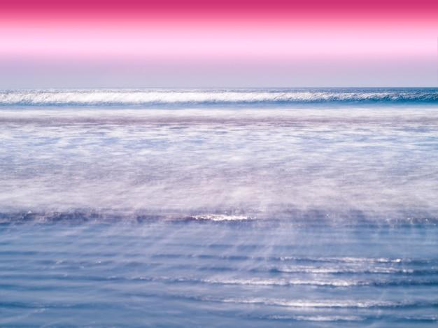 Levendige melk oceaan horizon vloedgolven achtergrond hd